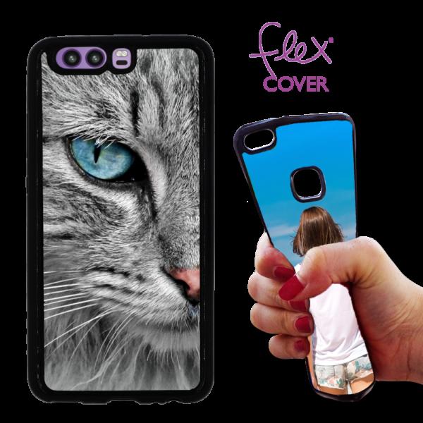 Flex Cover per Huawei P10 personalizzata con foto gatto