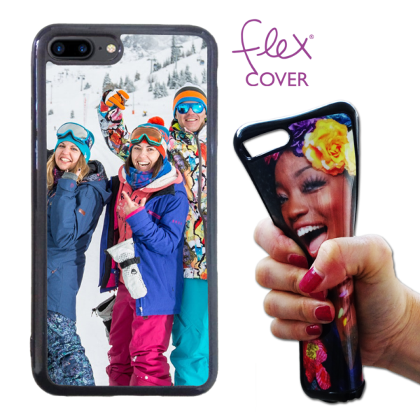 Flex Cover in silicone personalizzata per iPhone 8 Plus con base nera