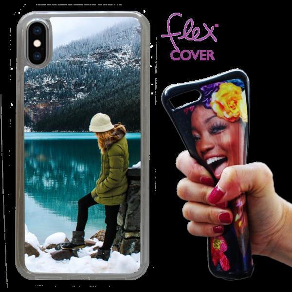 Flex Cover in silicone personalizzata per iPhoneXs Max con base trasparente