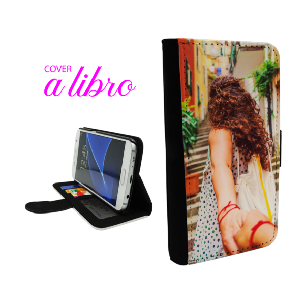 cover a libro personalizzata per Galaxy S6 Edge