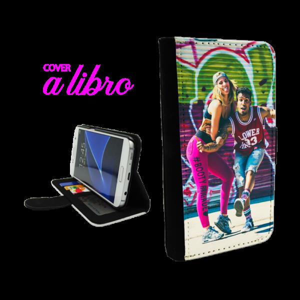 Flex cover a libro personalizzata con foto per Galaxy S9