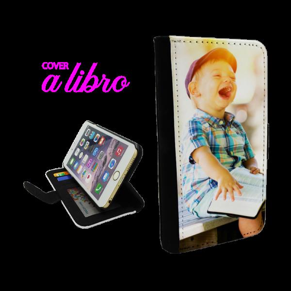 Cover a libro personalizzata per iPhone 8 con scomparti interni