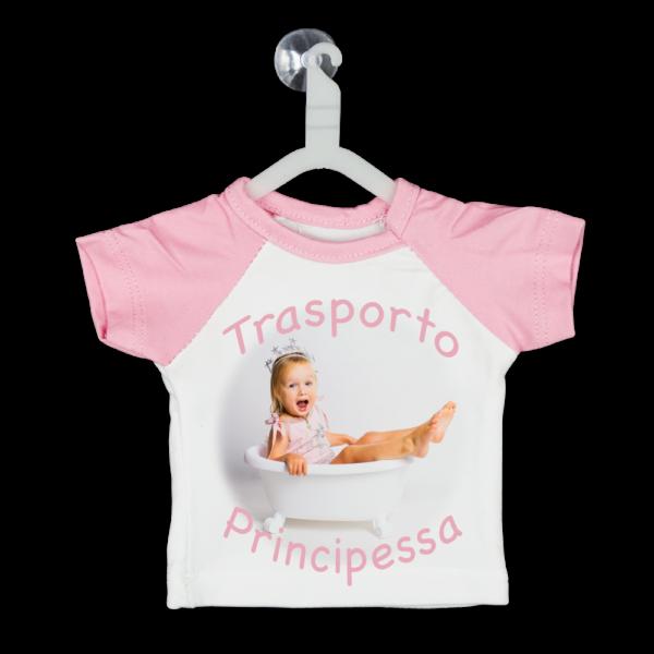 Mini t-shirt da uato personalizzata con ventosa e grucciadaappendere in auto