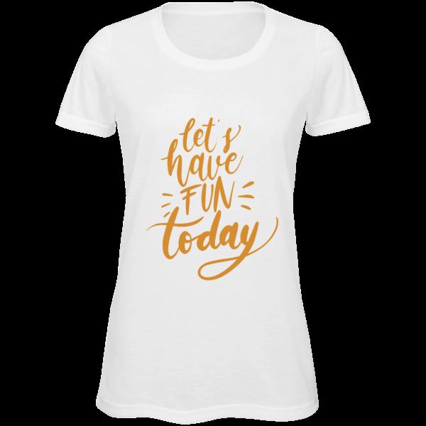 t-shirt da donna personalizzata in poliestere bianco