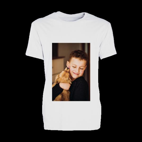 t-shirt bimbo personalizzata in poliestere bianco