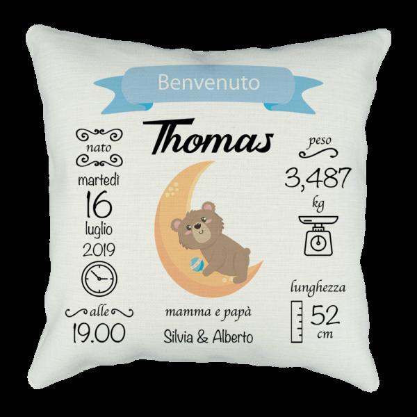 Cuscino personalizzato per neonato