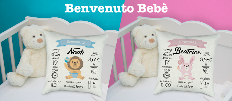 cuscini personalizzati neonato