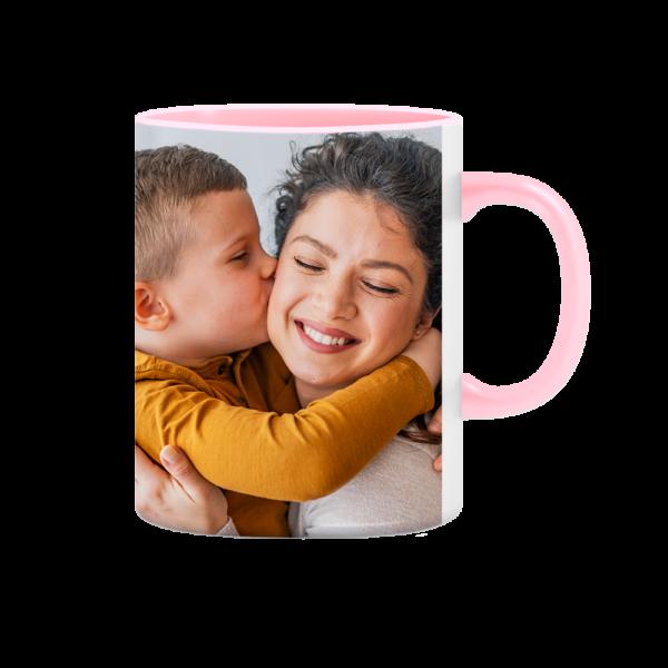 tazza personalizzata manico e interno rosa