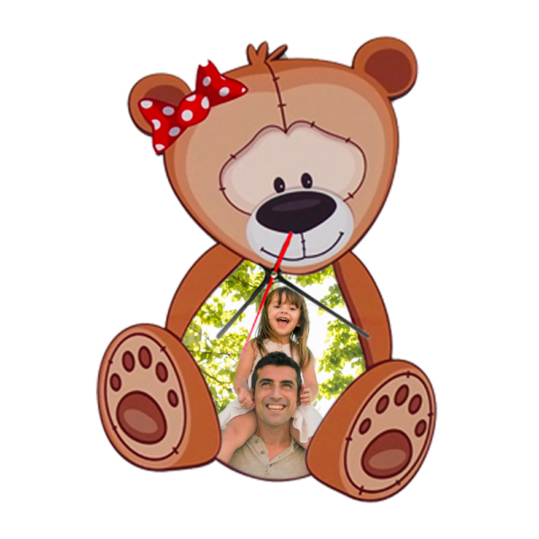 orologio personalizzato da parete orsetto per bambio