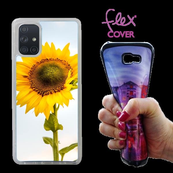 cover flex trasparente personalizzata samsung galaxy A71