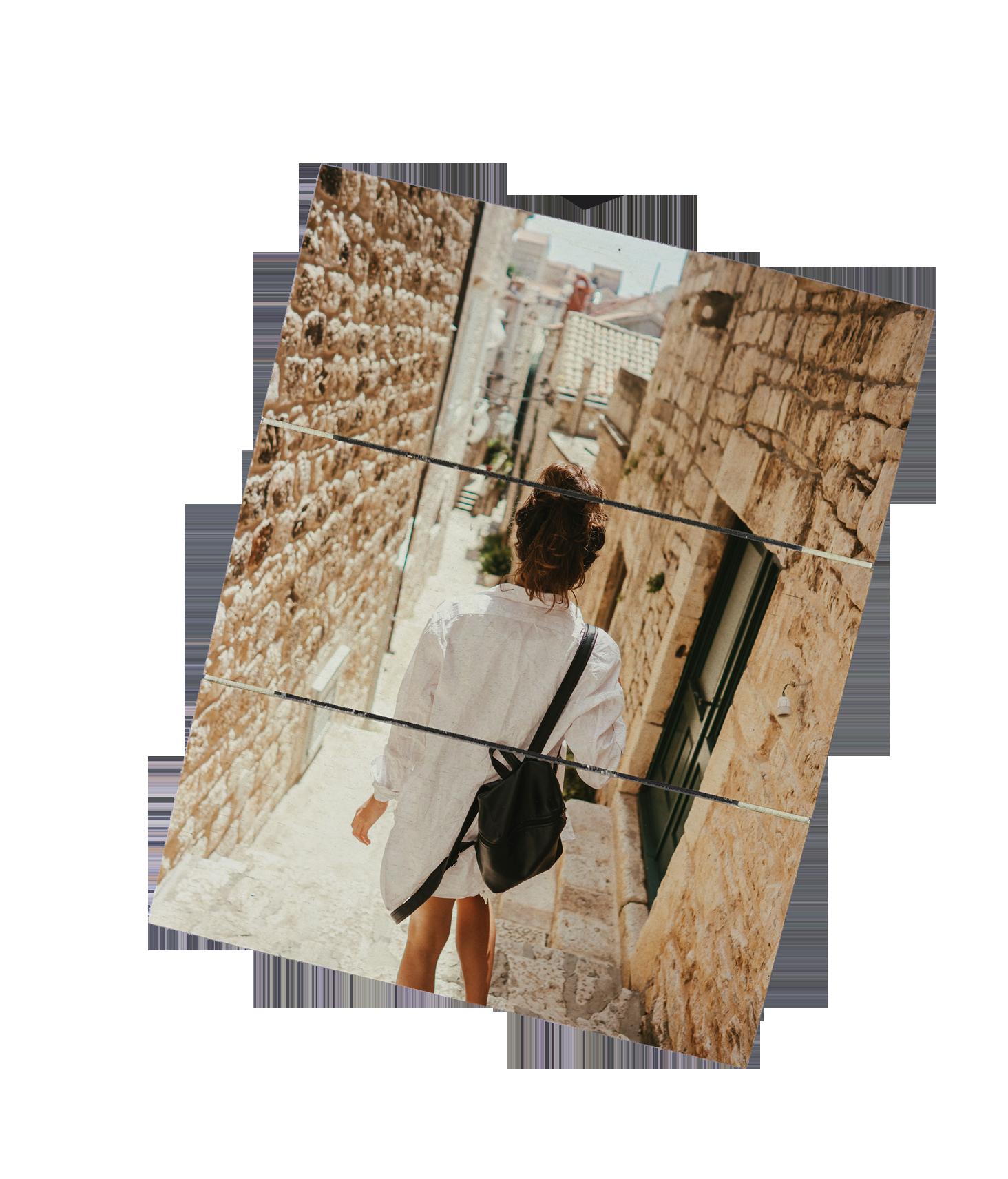 Foto su pannello in legno personalizzato