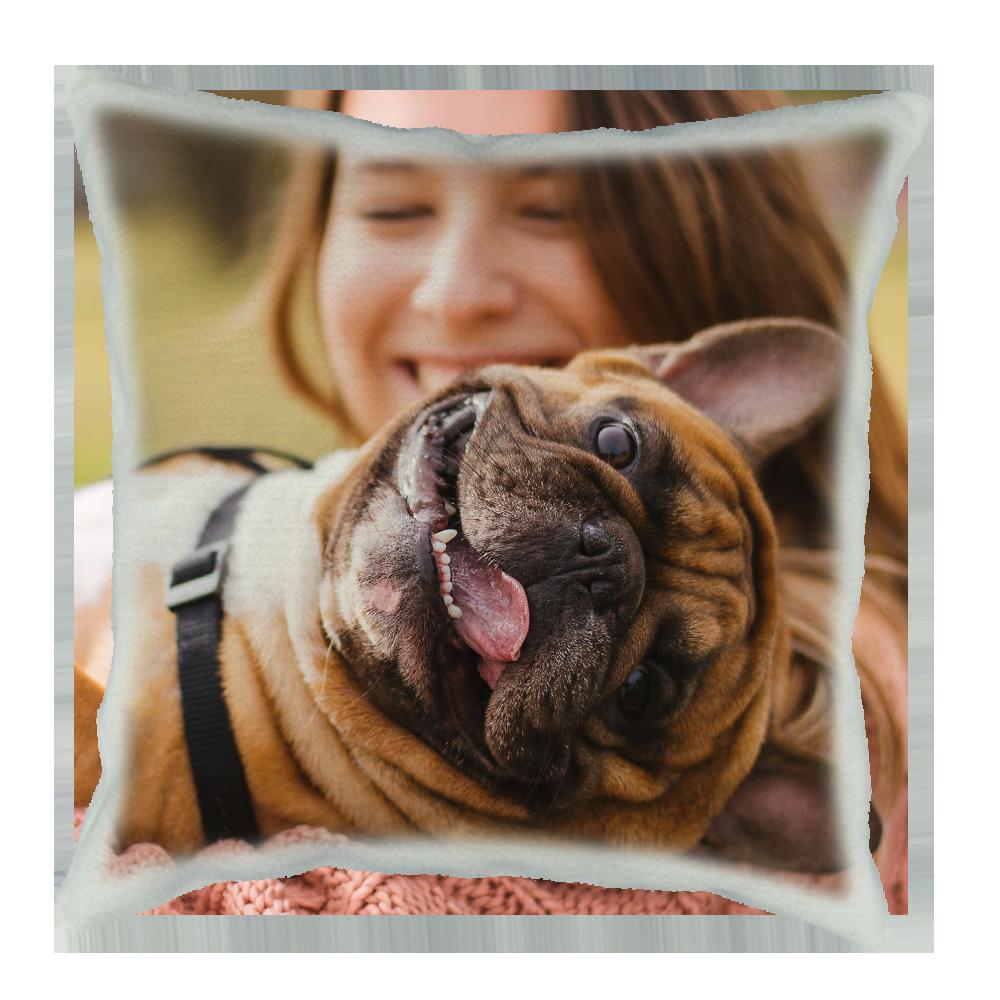 cuscino personalizzato effetto juta