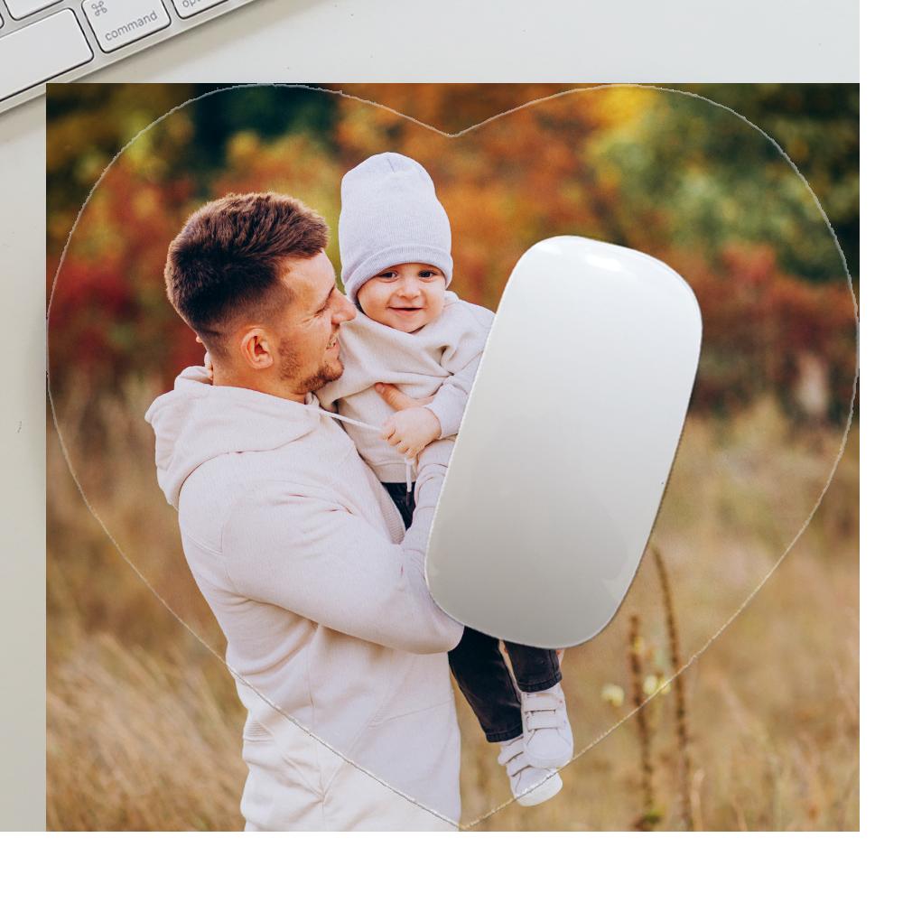 mouse pad cuore personalizzato