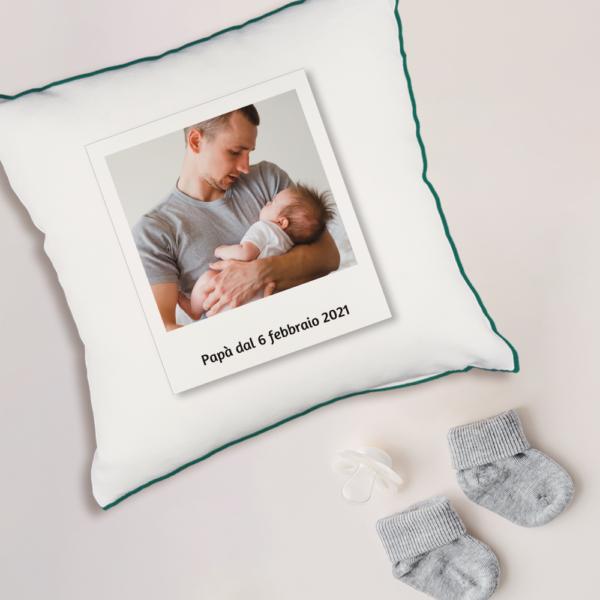 cuscino quadrato poliestere personalizzato