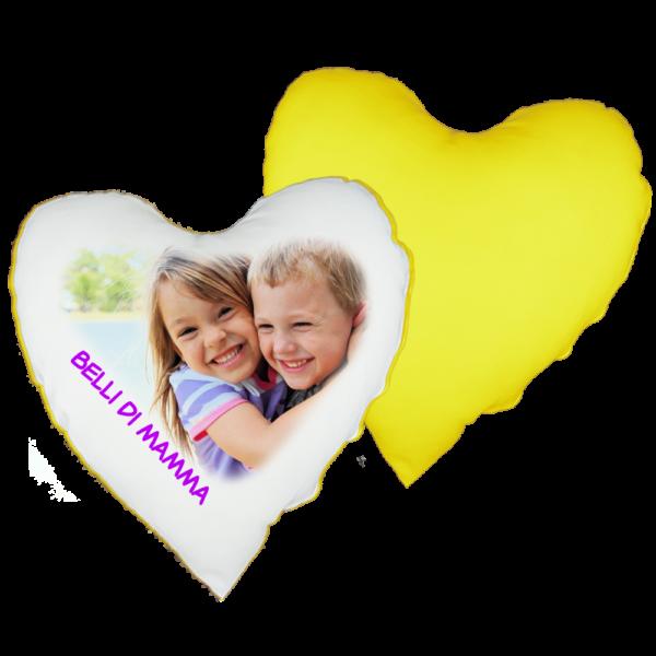 cuscino cuore personalizzato con foto e testo