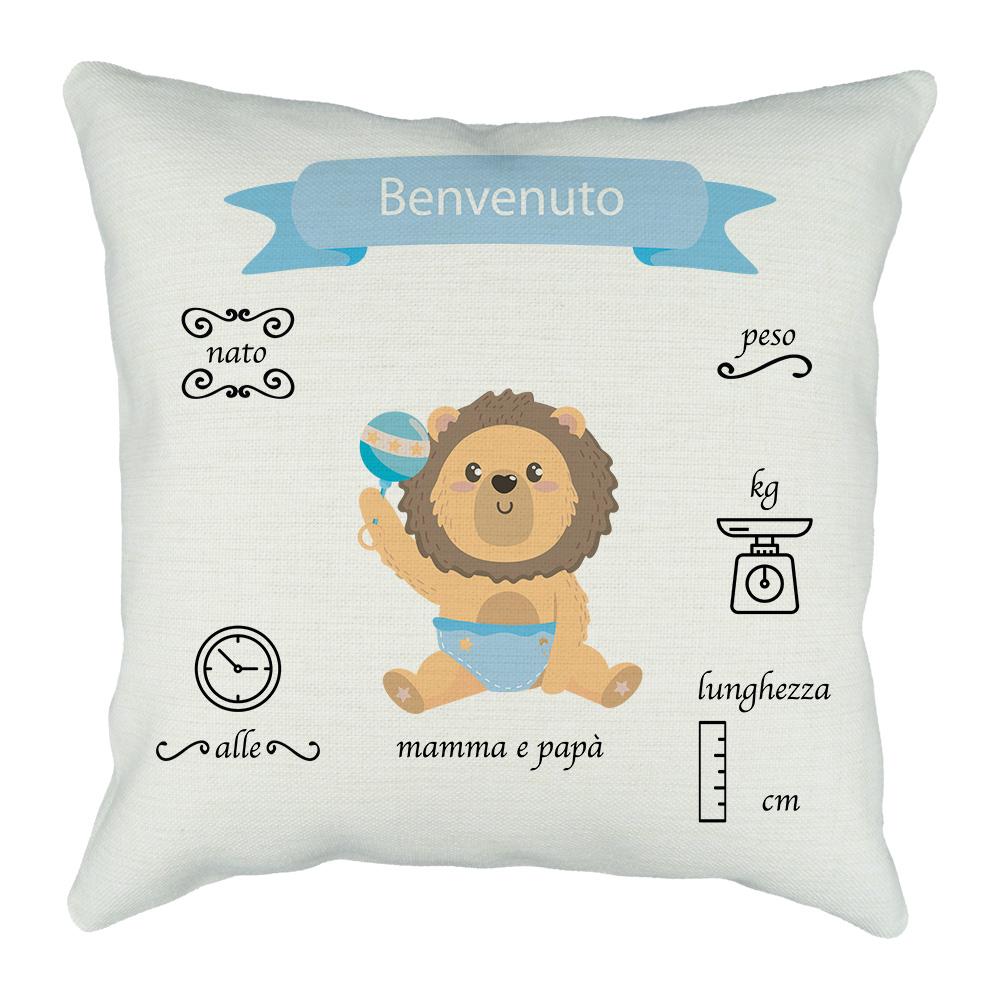 cuscino neonato con grafica da personalizzare