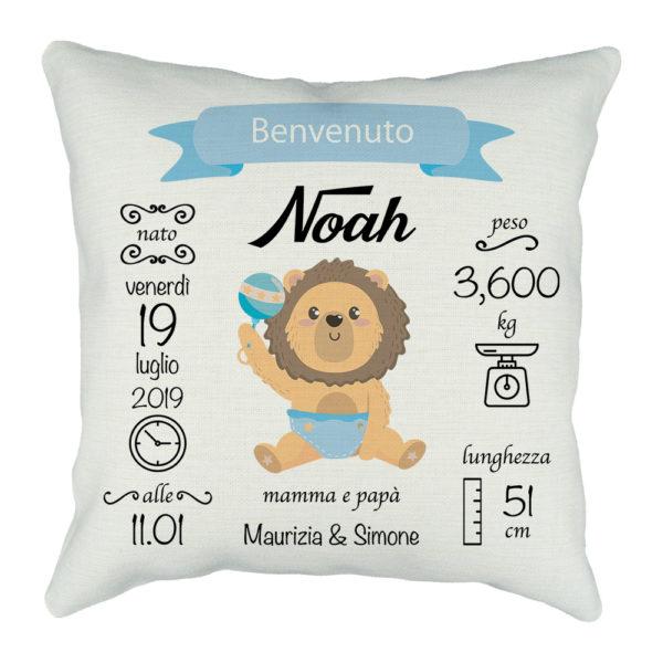 cuscino neonato personalizzato
