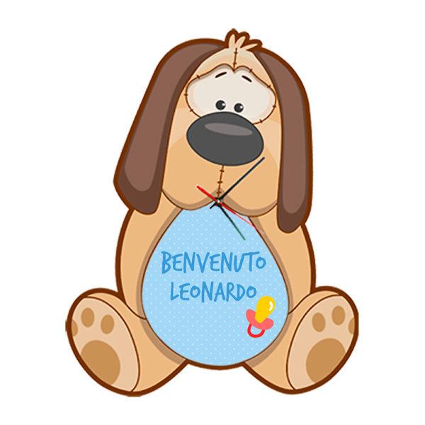 orologio personalizzato cane da parete bambini
