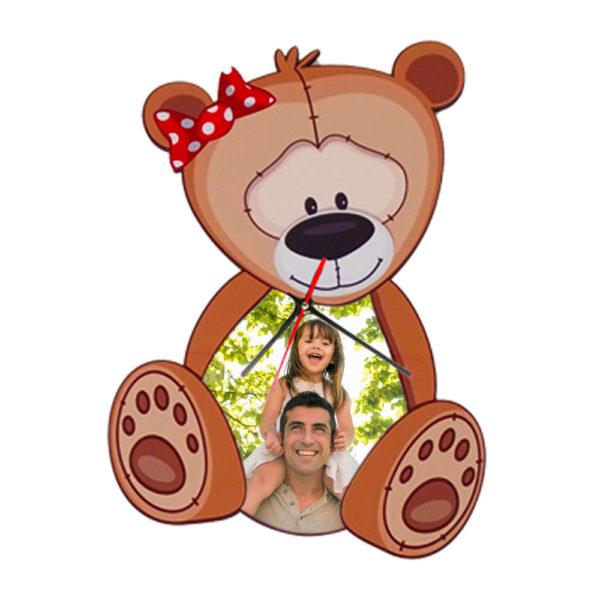 orologio personalizzato orsetto da parete bambini