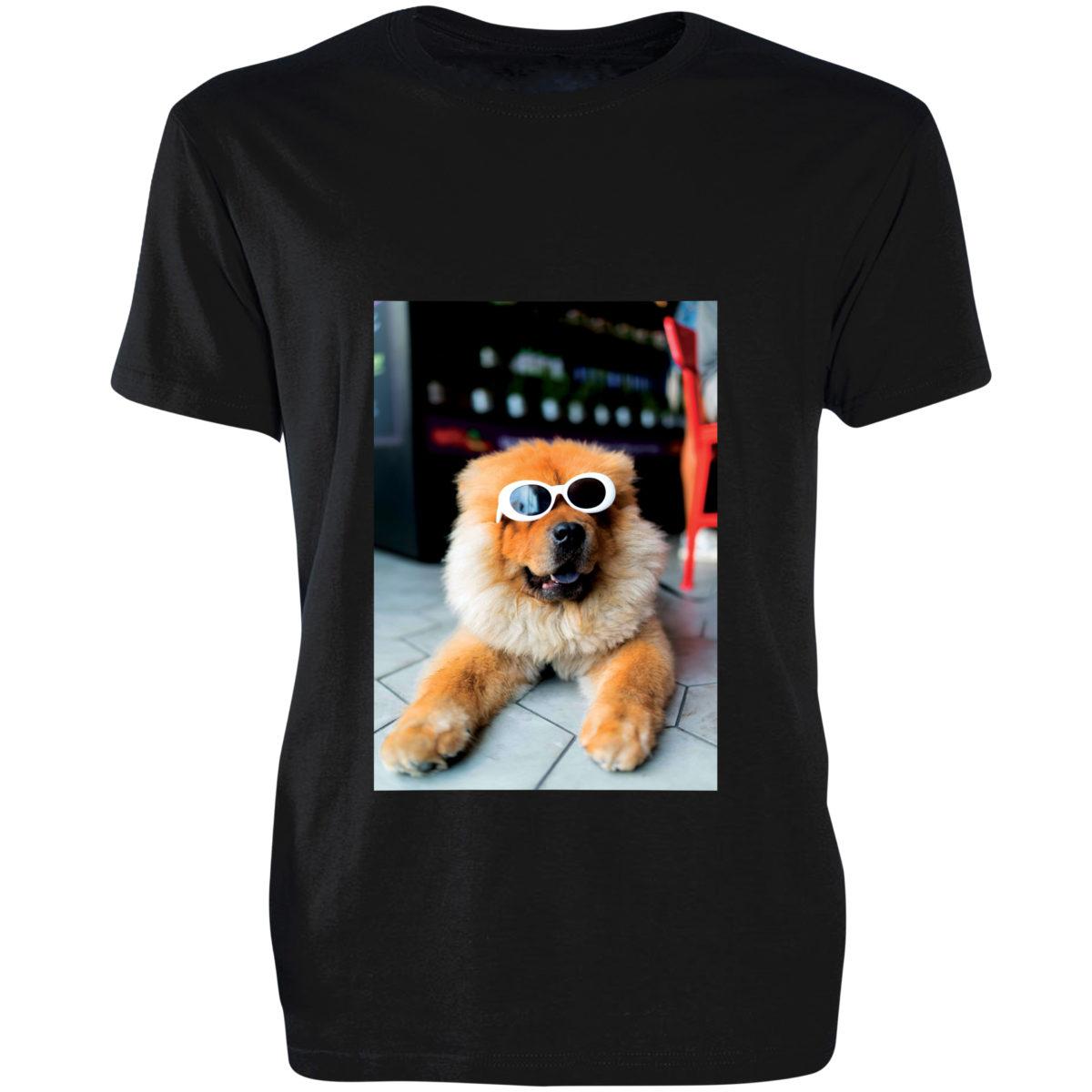 t-shirt cotone uomo nera personalizzata