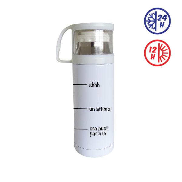 borraccia termica bianca personalizzata
